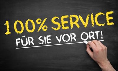 100% Service für Sie VOR ORT