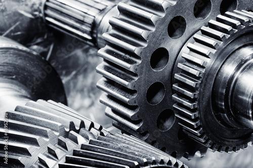 canvas print picture titanium aerospace gears and cogwheels