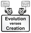 Monochrome Evolution verses Creation sign