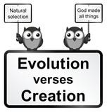 Monochrome Evolution verses Creation sign poster
