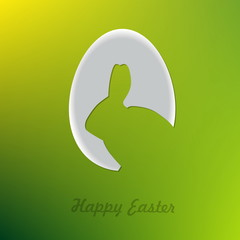 Egg with bunny shape, Happy Easter card