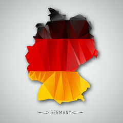 Germany map in a Triangular Style. Vector Illustration