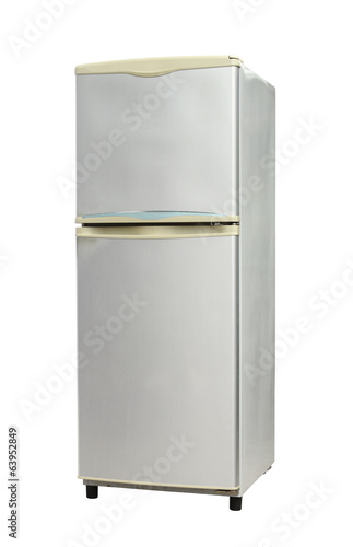 Refrigerator (with clipping path) isolated on white background
