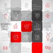 Infographic squares background design illustration, steps templa