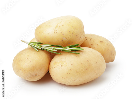 heap of baby potatoes with rosemary