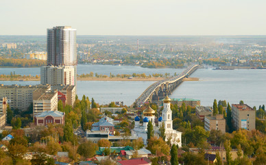 Saratov Engels bridge over the Volga