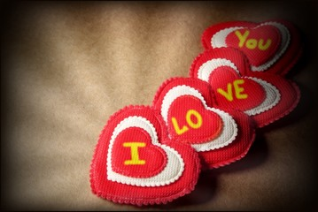 Hearts Love You Vintage Greeting Card, XXXL