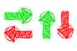rot und grüne Pfeile...