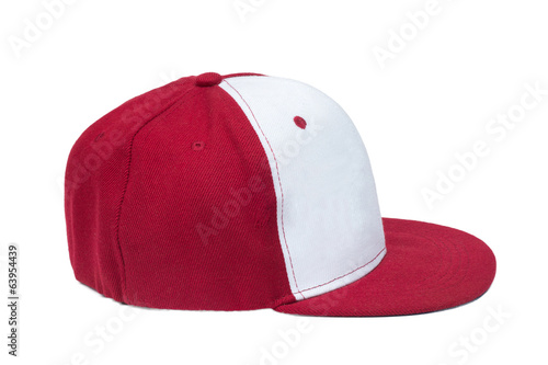 red and White color baseball caps