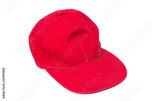 red isolated hat