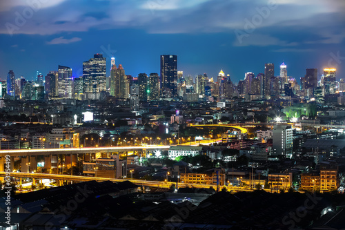 Bangkok Cityscape at twilight, Impression of City's Light (Thail