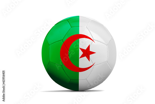 Soccer balls with teams flags, Brazil 2014. Group H, Algeria