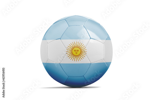 Soccer balls with teams flags, Brazil 2014. Group F, Argentina