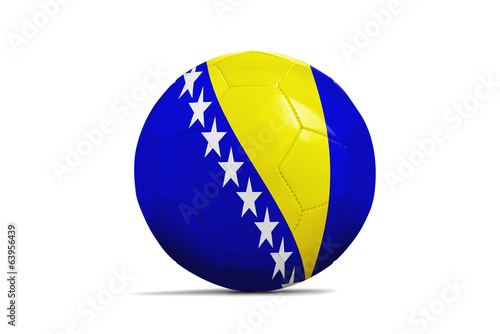 Soccer balls with teams flags, Brazil 2014. Group F, Bosnia and
