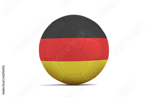 Soccer balls with teams flags, Brazil 2014. Group G, Germany