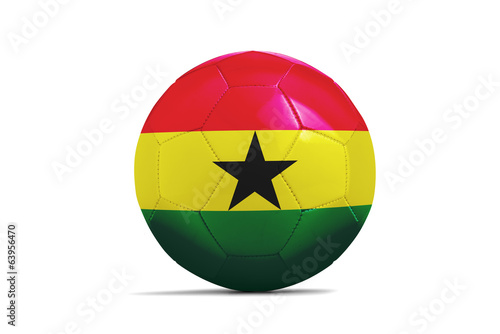 Soccer balls with teams flags, Brazil 2014. Group G, Ghana