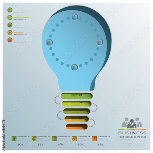 Light Bulb Shape Business Infographic
