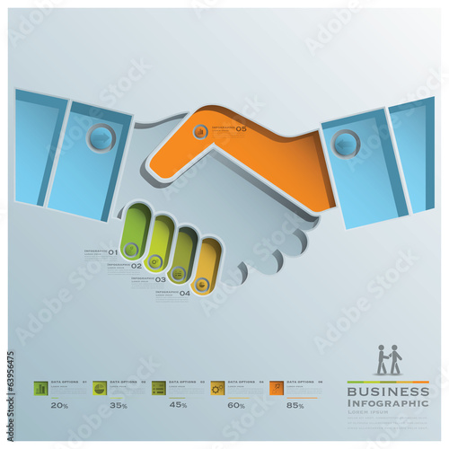 Hand Shake Business Infographic