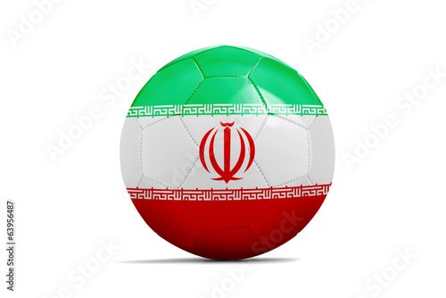 Soccer balls with teams flags, Brazil 2014. Group F, Iran