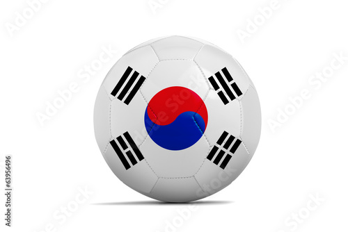 Soccer balls with teams flags, Brazil 2014. Group H, Korea