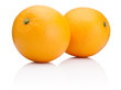 Two Ripe Oranges fruit isolated on white background