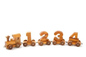 Wooden 1234  train