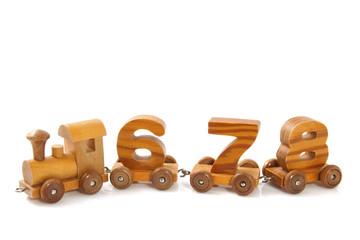 Wooden 678  train