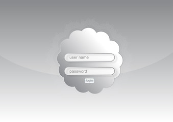 Web login form