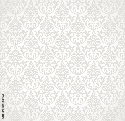 Seamless floral ornamental background