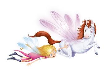 hada y caballo volando