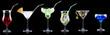 alcohol cocktail set