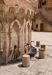 courtyard of the Ulu mosque, Mardin Turkey