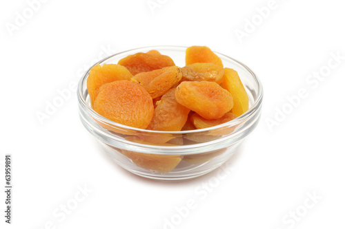 juicy fruit orange apricots on a white background