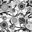 Monochrome floral seamless pattern.