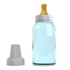 realistic 3d render of feeding bottle