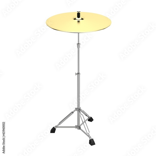 realistic 3d render of drum cymbal