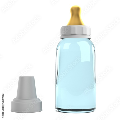 realistic 3d render of feeding bottle