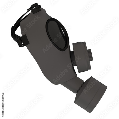 realistic 3d render of gas mask