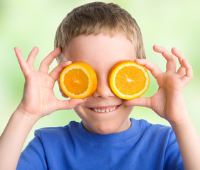 Child with an orange