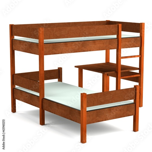 realistic 3d render of bed