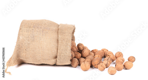 Sack with walnuts.