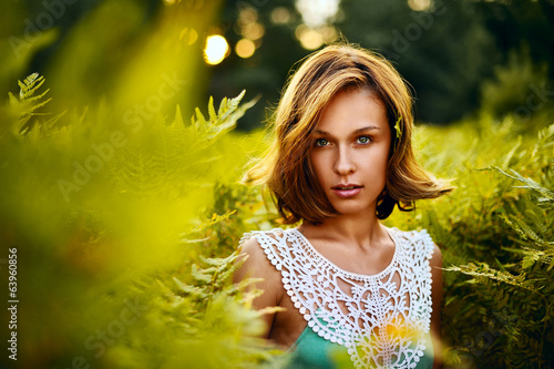 Girl at sunset in Ferns