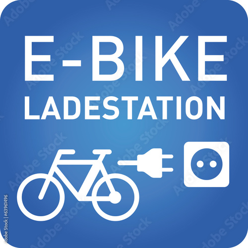 e-bike ladestation vector icon