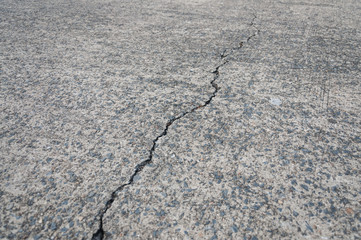 crack on concrete road texture