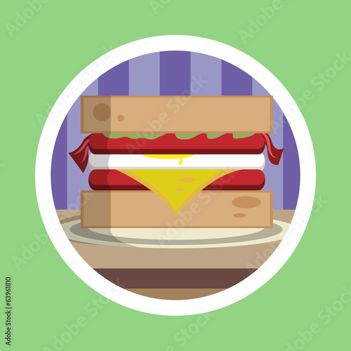 Delicious Sandwich Illustration