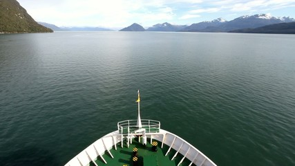 bow of a ship, cruise in patagonia