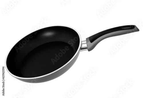 Basic frying pan - black and grey isolated over white background