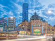 Flinders Street Station in Melbourne at night - 63962258