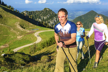 Nordic Walking in den bayrischen Bergen