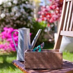 L'arrosoir au jardin